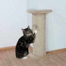 Drápací sloupek Lorca pro kočku, rohový s hračkou - 75 cm