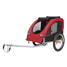 Vozík pro psa za kolo, s kovovým rámem - 45x48x74 cm