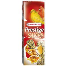 Tyčinky pro kanárky Prestige Sticks 2 ks - med, 60g