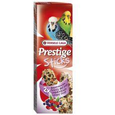 Tyčinky pro andulky Prestige Sticks 2 ks - lesní plody, 60g