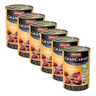Konzerva GranCarno Fleisch Adult hov. + krůta - 6 x 400 g