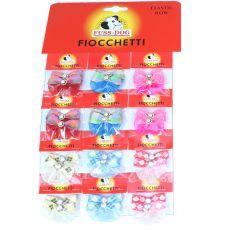 Mašličky s kamínkem pro psy - vícebarevné, 24 ks