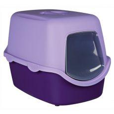 Toaleta pro kočky s dvířky a rukojetí - fialová