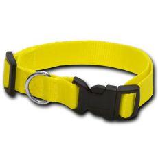 Obojek pro psa neon žlutý - 1,6 x 25-39 cm
