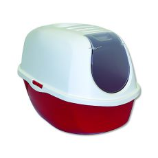 Toaleta pro kočky s krytem MAGIC CAT, červená - 39x53x41 cm