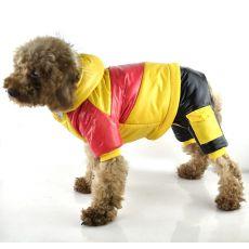 Bunda pro psa - žluto-růžová, XS