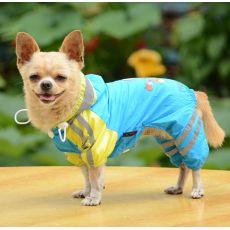 Pláštěnka se vzorem děvčátka pro psa – modrá, XS