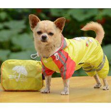 Pláštěnka se vzorem děvčátka pro psa – žlutá, XS