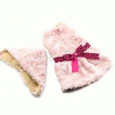 Svetřík pro psy - růžový s kapucí a mašličkou – XXL