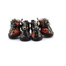 Boty pro psy - leopardí lesklé - oranžové, L