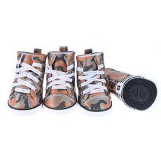 Boty pro psy - maskáčové oranžové, L