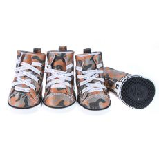 Boty pro psy - maskáčové oranžové, XL