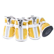 Boty pro psy - se suchým zipem - žluté, XL