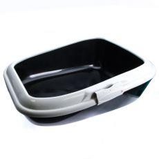 Toaleta pro kočky MODERNA - černá - 56 x 43,5 x 19 cm