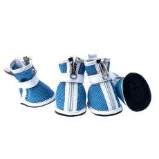 Boty pro psy - síťované modré, zip, L