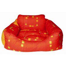 Pelech pro psa - hranatý, oranžový, 75x60x23 cm