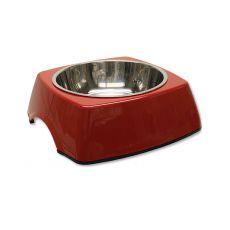 Miska pro psa DOG FANTASY, hranatá - 0,70 l, červená