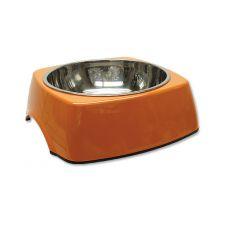 Miska pro psa DOG FANTASY, hranatá - 1,40 l, oranžová