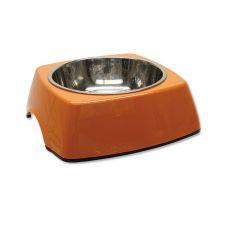 Miska pro psa DOG FANTASY, hranatá - 0,70 l, oranžová