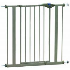 Bariéra pro psy kovová, šedá - 75-84x75 cm