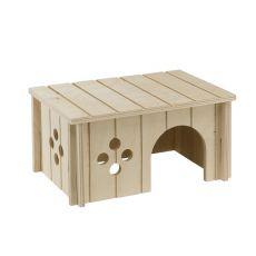 Domek pro středně velké hlodavce, dřevěný - 26 x 17,3 x 13 cm