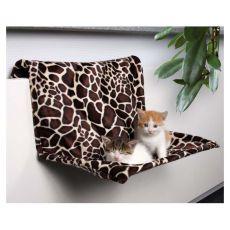 Pelech pro kočky na radiátor, plyš - 48 x 26 x 30 cm
