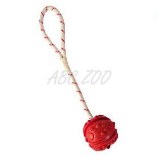 Hračka pro psy - plovoucí míček na laně, 7 cm