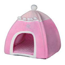 Pelech pro psy a kočky, Iglu Princess, růžový - 40 x 40 x 42 cm