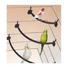 Bidlo pro ptáky plastové BÍLÉ - 1,2 x 15 cm
