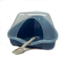 Rohová toaleta s krytem NORA 1C modrá - 18 x 13 x 11 cm