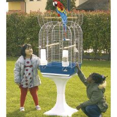 Klec pro ptáky KIT COYA 52 modrá - 52 x 52 x 148 cm