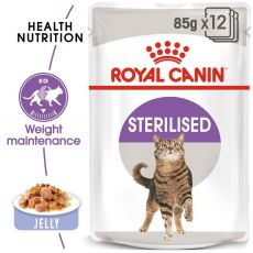 Royal Canin STERILISED in Jelly 12 x 85 g - želé v kapsičce